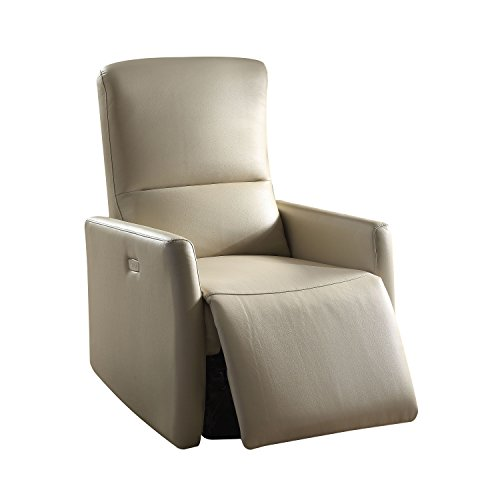 Acme Furniture Chair (Acme Furniture 59408 Raff Power Motion Recliner, Beige Leather-Aire)