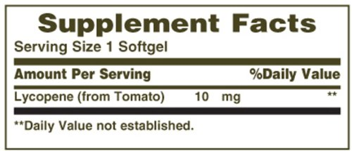 Nature039s Bounty Lycopene 10mg 60 Softgels Pack of 2 Discount