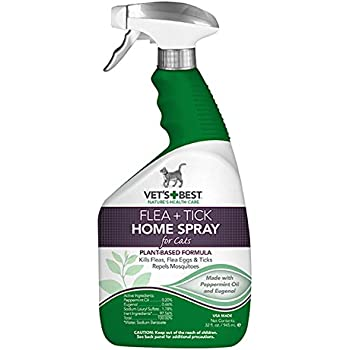 New for Cats Vet's Best Natural Flea and Tick Home Spray, 32 oz, USA Made