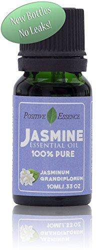 (Jasmine Essence Oil - 100% Pure Jasmine Essence, Highest Quality JASMINUM Oil - Therapeutic Grade - 10ml Aromatherapy Oil by Positive Essence)