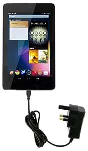 Kit TABMCNK - Cargador 2 en 1 (enchufe UK con cable Micro USB, 2.1A) para tablets, negro