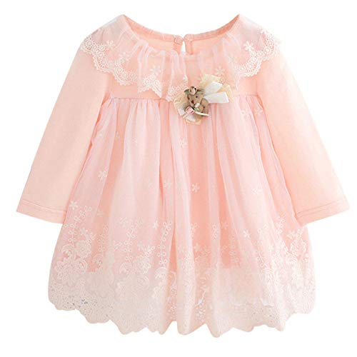 Newborn Infant Winter Baby Girl Long Sleeve Lace