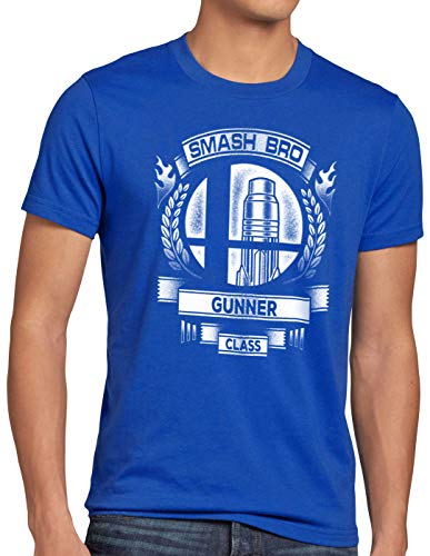 para hombre Super Gunner Hormiga Switch Ultimate Blue Smash Brothers Brawl Camiseta U5wqntx0TE