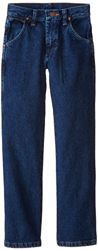 Wrangler Big Boys' Cowboy Cut Jeans,Dark Indigo,8 Regular (Wrangler Blue Denim Dark)