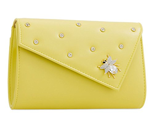 Yellow Bag Haute Ladies For For Yellow Diva Clutch Haute Insect pTTZqHzBw