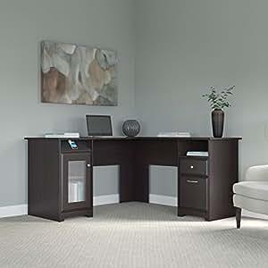 Cabot L Shaped Desk in Espresso Oak