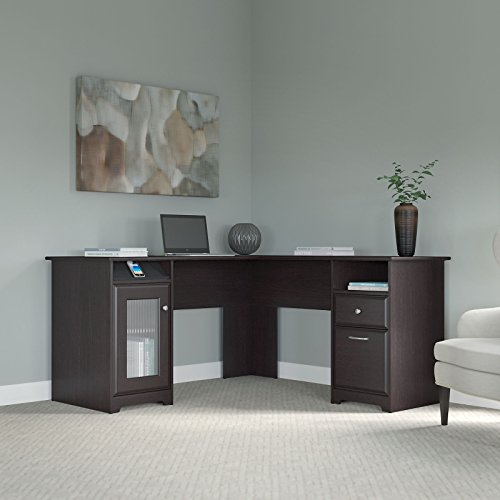 Cabot L Shaped Desk in Espresso Oak - Home Office Furniture Shopping Results