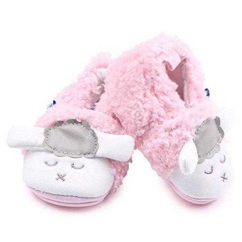 Fulltime® Little Sheep anti-dérapant Mignon bébé nouveau-né Chaussures - Rose