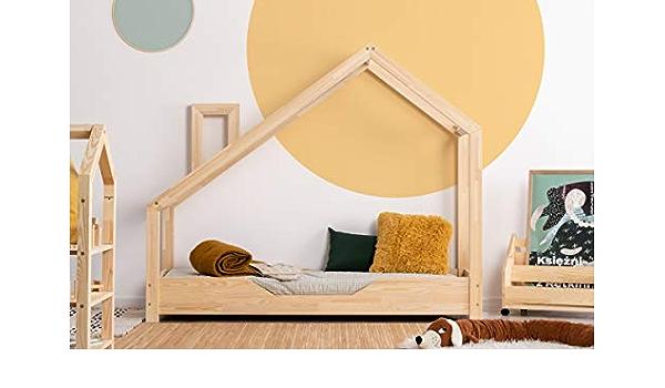 Cama infantil de madera 100 x 170 cm y somier: Amazon.es: Hogar