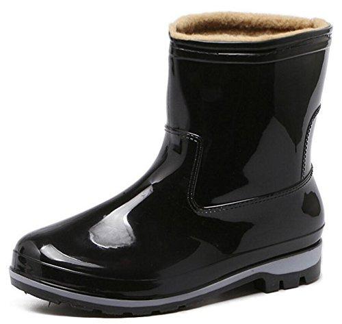 Adult Men's Antiskid Short Rubber Water Resistant Work Shoes Rain Boots