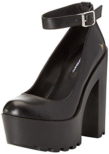 Windsor Smith Damen Runt Pumps Schwarz (Black Leather)