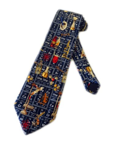 Mens Periodic Table Chemistry Science Necktie - Blue - One Size Neck Tie