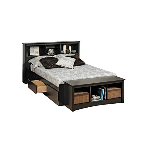 Bowery Hill Queen Bookcase Platform Storage Bed Price