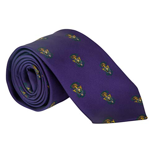 Lambda Chi Alpha Fraternity Necktie Tie Greek Formal Occasion Standard Length Width Lambda Chi (Repeating Crest Necktie)