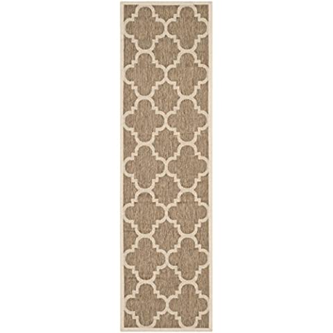 Safavieh Courtyard Collection CY6243-242 Brown Indoor/ Outdoor Runner (2'3