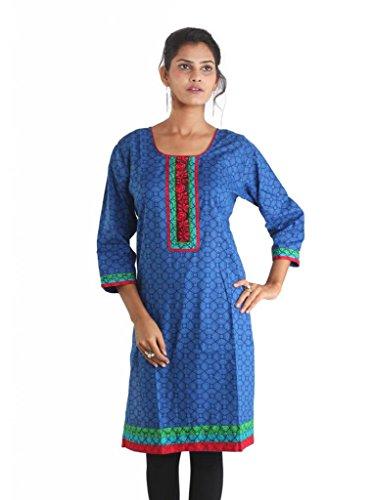 Blau Kleid Indiankala4U Indiankala4U Blau Damen Damen qX8wv
