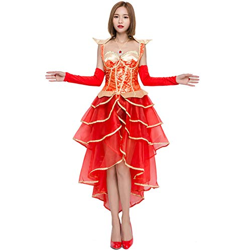 YIBEN Halloween Dresses,Red Dress Cake Skirt, Retro Court Bride Ball Queen Costume Costumes Sexy Set