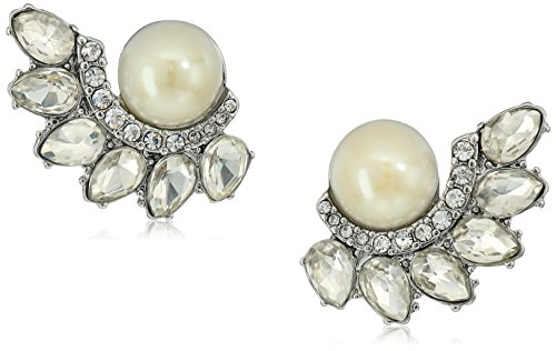 Carolee Grand Entrance Pearl Spray Cluster Clip-On Earrings (Grand Cluster Ring)
