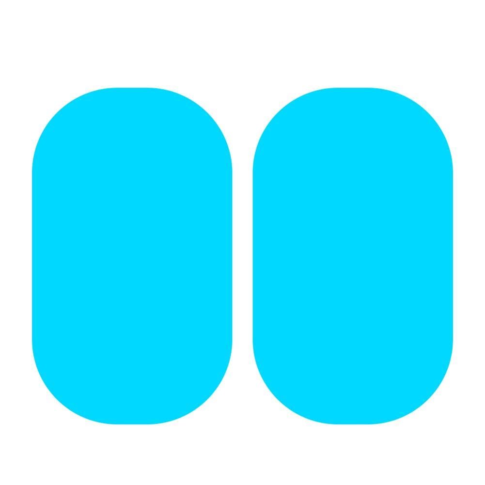 9.5 x 13.5 cm Demiawaking 2 Pezzi Pellicola Antipioggia per Auto Pellicola Protettiva per Specchietto Retrovisore Auto Antinebbia Antipioggia Pellicola per Finestrino Auto