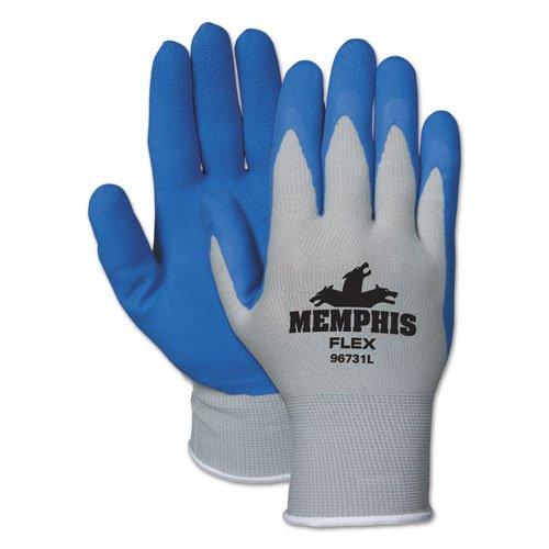 Pair Medium Memphis 96731M Memphis Flex Seamless Nylon Knit Gloves Blue//Gray