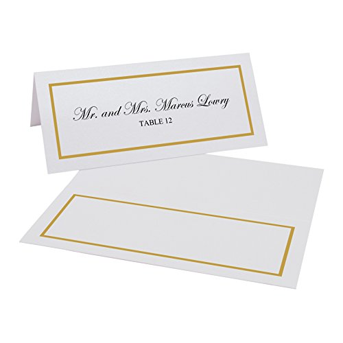 Gold Border Place Cards - 2