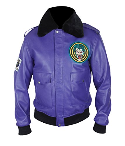 Joker Henchman Costume (F&H Men's Batman Henchman Joker Goon Purple Bomber Jacket L Purple)