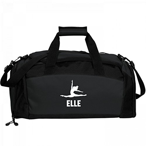 Girls Dance Bag For Elle: Port & Company Gym Duffel (Elle Black Bag)