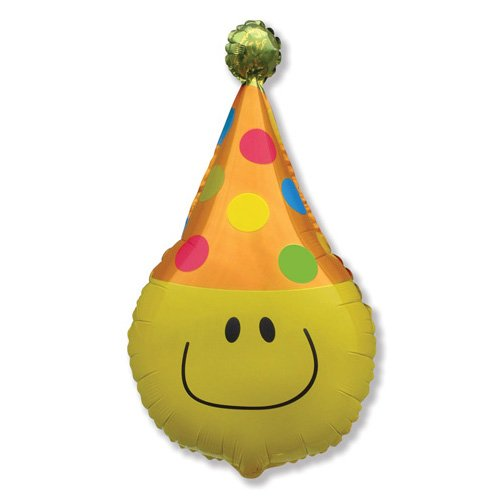 - LA Balloons Foil Balloon 901684 Funny Smiley FACE, 28