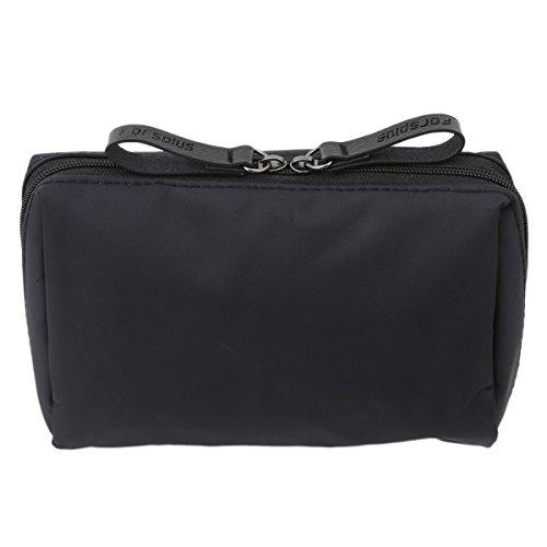 CH Makeup Bag Toiletry Bag for Women Skincare Cosmetic Pouch Double Zipper Travel Organizer - Carolina Bags Herrera