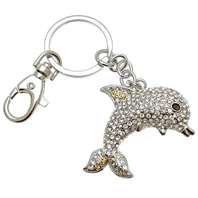 Acosta - diseño de delfín de cristal de adorno para el bolso ...