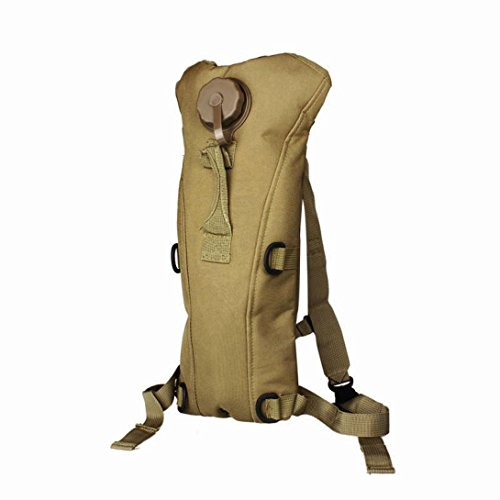 Price comparison product image Boofab Military Tactical Backpack,  Hydration Water Bag Pouch Backpack Bladder Hiking Climbing Survival 3L BK (B)