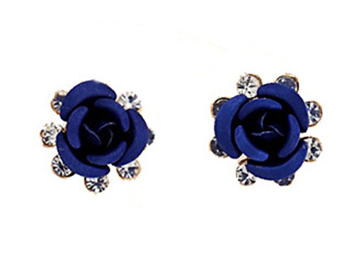 Fashion Earrings Flower Diamond Studs product image