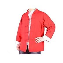 Premium Linen Red Kung Fu Martial Arts Tai Chi Jacket Coat XS-XL Tailor Made