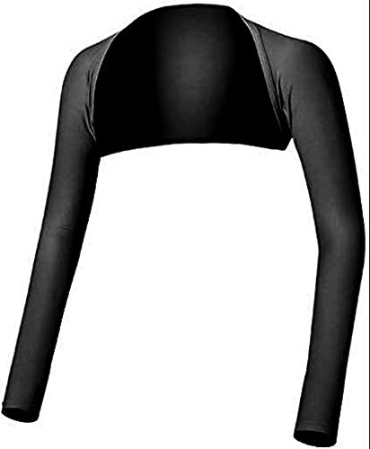 [Mega, Performance Shawl Arm Sleeves, Golf, Cycling, Tennis, Outdoor Activities, Size L, Black] (Ladies Golf Fancy Dress Costumes)