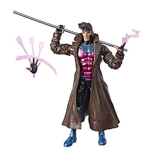 Marvel Hasbro Legends Series 6-inch Collectible Action Figure Gambit Toy (X-Men - Carolina Series Legend