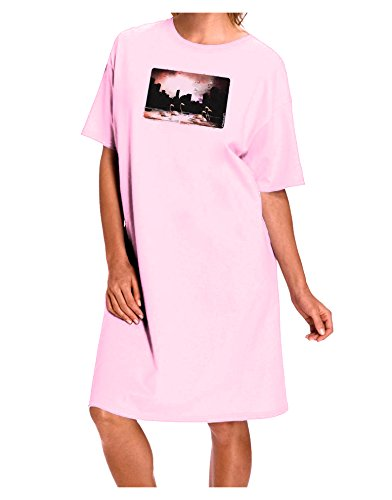 Purchase Pink Flamingo's Yard Ornaments (TooLoud Nighttime Flamingos Adult Night Shirt Dress - Pink - One Size)