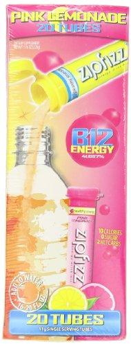 Mélange à boisson énergie sain Zipfizz, limonade rose, Pack de 20