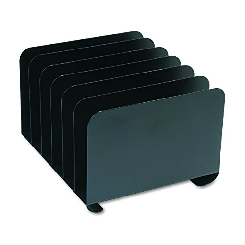 SteelMaster 2646BLA Desktop Vertical Organizer, Six Sections, Steel, 12 x 11 x 8 1/8, (Vertical Dividers)
