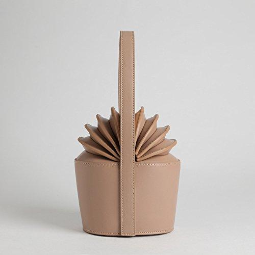 Di Leather Di High Brown Forma Women's A apricot Borsa A Quality Forma Personality Handbag Fashion MYLL Ananas qzCxOYnpn