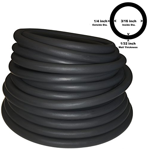 - 1/4 OD 3/16 ID LATEX TUBING (602 BLACK) 10FT