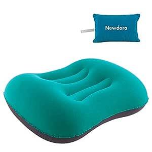 Newdora Almohada Hinchable, Almohada Camping, Almohada de Viaje Inflable, Almohada Inflable Ultraligera, Adecuado para para Camping, Playa, Viajes, ...