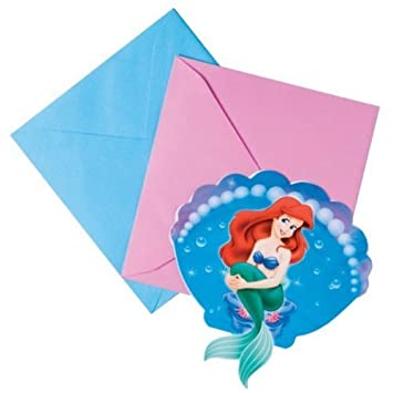 Ariel Party Invitations pack of 6 Amazoncouk Toys Games
