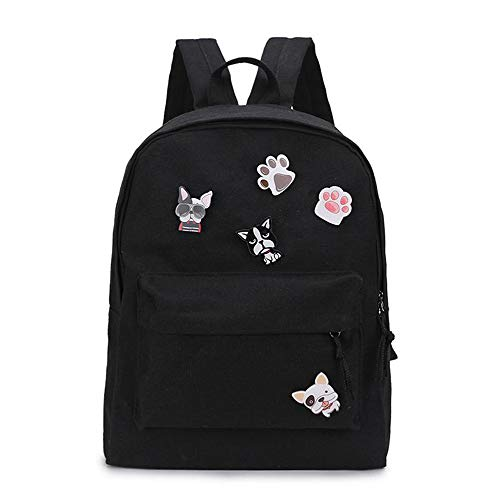 JITALFASH Backpack for Girls with Multi-Pockets | School Bookbag Daypack Travel Bag BLACK 2 onesize