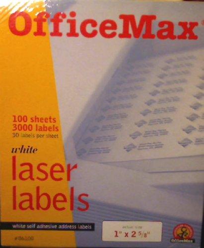 (White Self Adhesive Address Laser Labels- 1