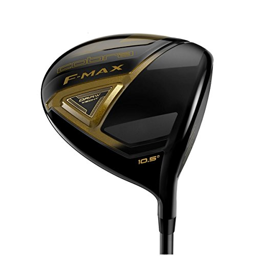 Cobra Men's 2018 F-Max Driver Black-Gold, Right Hand, Graphite, 10.5, degrees, Regular