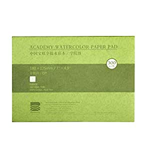 """MEEDEN 5X7"""" Cotton Watercolor Paper Textured Surface Watercolor Pad, Cold Press, 140lb/300gsm, 20 Sheets"""