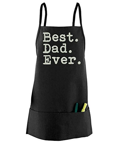 Live Nice Best. Dad. Ever. - Funny Father's Day - Embroidered Mid-Length Apron, (Ever Aprons)