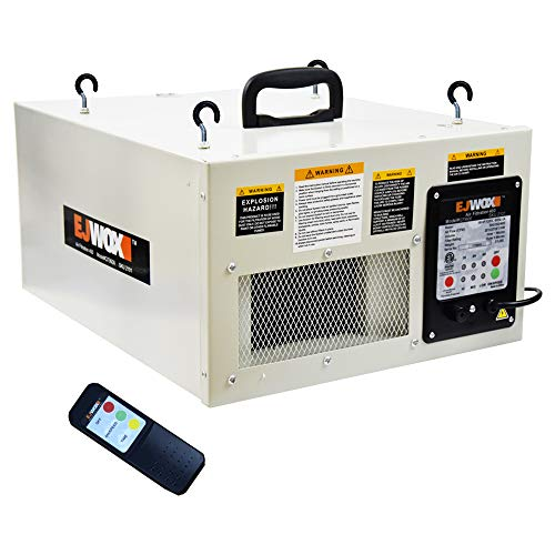 EJWOX 3 Speed Remote-Controlled Woodshop Air Cleaner Filtration System 400 CFM, Dust Collectors for ()