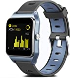 MorePro GPS Running Smart Watch, Fitness Tracker Waterproof Pedometer Exercise Watch with 17 Sport Mode Full Touch Screen Heart Rate Step Sleep Monitor for Women Men Compatible with iPhone Android