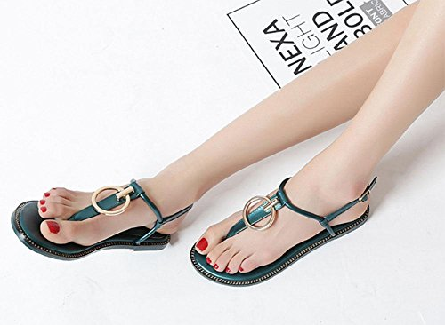 MEILI Flip Shoes US8 Toe Strap Sandalias CN39 Herringbone EU39 UK6 Roman T Shoes ZZwp5q